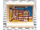 Part No: 4215bpb05  Name: Panel 1 x 4 x 3 - Hollow Studs with Map Street Pattern 2 on Inside (Sticker) - Set 6598