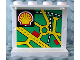Part No: 4215pb044  Name: Panel 1 x 4 x 3 with Map Street Pattern 4 and Shell Logo on Inside (Sticker) - Set 1254