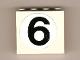 Part No: 4215pb051  Name: Panel 1 x 4 x 3 with '6' Pattern (Sticker) - Set 8842