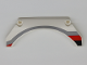 Part No: 42545pb001R  Name: Technic, Panel Car Mudguard Arched 13 x 2 x 5 with Black, Red and Gray Stripes Model Front Right Side