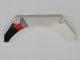 Part No: 42545pb002R  Name: Technic, Panel Car Mudguard Arched 13 x 2 x 5 with Black, Red and Gray Diagonal Stripes Model Back Right Side