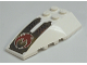 Part No: 43712pb020  Name: Wedge 6 x 4 Triple Curved with Red Crescent and Black Dots on Gold Pattern (Sticker) - Set 7714
