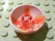 Part No: 44359pb01  Name: Cylinder Hemisphere 3 x 3 Ball Turret with Marbled Red Pattern