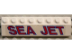 Part No: 4445pb02L  Name: Slope 45 2 x 8 with 'SEA JET' Pattern Model Left Side (Sticker) - Set 5521