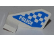 Part No: 44661pb018  Name: Tail Shuttle, Small with 'POLICE' and Blue and White Checkered Pattern on Both Sides (Stickers) - Set 4440