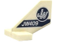 Part No: 44661pb022  Name: Tail Shuttle, Small with 'JW' in Dark Blue and Silver Circle and 'JW409' Pattern on Both Sides (Stickers) - Set 75919