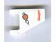 Part No: 44676pb007  Name: Flag 2 x 2 Trapezoid with Orange Line and Modified Classic Space Logo Pattern (Sticker) - Set 7647