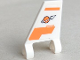 Part No: 44676pb035L  Name: Flag 2 x 2 Trapezoid with Orange Lines and Modified Classic Space Logo Pattern Model Left Side (Sticker) - Set 7645