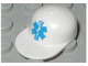 Part No: 4485pb02  Name: Minifigure, Headgear Cap - Long Flat Bill with Blue EMT Star of Life Pattern