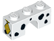 Part No: 4490pb09  Name: Brick, Arch 1 x 3 with Black Dalmatian Spots and Gold Diamond Tag with 'P' Pattern