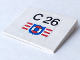 Part No: 4515pb002  Name: Slope 10 6 x 8 with 'C 26' & Coast Guard Logo Pattern (Sticker) - Set 4022