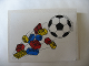 Part No: 4515pb003  Name: Slope 10 6 x 8 with Bricks and Soccer Ball (Football) Pattern (Sticker) - Sets 3309 / 3310
