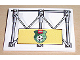 Part No: 4515pb013  Name: Slope 10 6 x 8 with Girders and Lego Soccer Logo Pattern (Sticker) - Set 3403