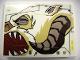 Part No: 4515pb039L  Name: Slope 10 6 x 8 with Wampa Face Profile Pattern Model Left Side (Sticker) - Set 10195