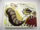 Part No: 4515pb039R  Name: Slope 10 6 x 8 with Wampa Face Profile Pattern Model Right Side (Sticker) - Set 10195