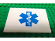 Part No: 4515pb041  Name: Slope 10 6 x 8 with Blue EMT Star of Life Pattern (Sticker) - Set 3312