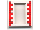 Part No: 45402px1  Name: Door Frame 2 x 8 x 8 with Red Bricks Pattern
