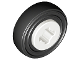 Part No: 4624c01  Name: Wheel  8mm D. x 6mm with Black Tire 14mm D. x 4mm Smooth Small Single (4624 / 3139)