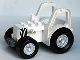 Part No: 47444c01pb01  Name: Duplo Farm Tractor New Style with 2 x 3 Studs on Hood and Zebra Stripes Pattern