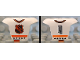 Part No: 47577pb04  Name: Minifigure, Hockey Body Armor with NHL Logo and Black Number 4 Pattern