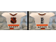 Part No: 47577pb06  Name: Minifigure, Hockey Body Armor with NHL Logo and Black Number 6 Pattern