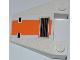 Part No: 4858pb11  Name: Wedge 4 x 4 Taper with SW Snowspeeder Vent, Orange Stripe Pattern (Sticker) - Set 8089