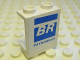 Part No: 4864bpb032L  Name: Panel 1 x 2 x 2 - Hollow Studs with 'BR' and 'PETROBRAS' Pattern, Model Left (Sticker) - Set 8374