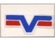 Part No: 4865pb007  Name: Panel 1 x 2 x 1 with Blue -V- and two Red Lines Pattern (Sticker) - Set 6614