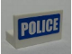 Part No: 4865pb013  Name: Panel 1 x 2 x 1 with 'POLICE' White on Blue Pattern (Sticker) - Set 7741
