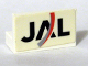 Part No: 4865pb016  Name: Panel 1 x 2 x 1 with JAL Logo Pattern (Sticker) - Set 4032-5