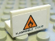 Part No: 4865pb033  Name: Panel 1 x 2 x 1 with 'FLAMMABLE LIQUID' and Orange Warning Triangle Pattern (Sticker) - Set 8147