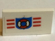 Part No: 4865pb041  Name: Panel 1 x 2 x 1 with Coast Guard Pattern (Sticker) - Set 6338