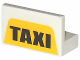 Part No: 4865pb042  Name: Panel 1 x 2 x 1 with 'TAXI' on Yellow Pattern (Sticker) - Set 4852