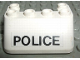 Part No: 4866pb01  Name: Windscreen 3 x 4 x 1 1/3 with 6 Studs on Top with POLICE Pattern (Sticker) - Set 6676