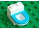 Part No: 4911c02  Name: Duplo Furniture Toilet with Medium Blue Rim