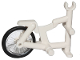 Part No: 50015c01  Name: Tricycle Frame with Trans-Clear Wheel Bicycle with Fixed Black Hard Rubber Tire (1-Piece Wheel) (50015 / 92851c01)