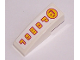 Part No: 50950pb005  Name: Slope, Curved 3 x 1 No Studs with Power Pattern (Sticker) - Set 8131