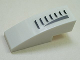 Part No: 50950pb006R  Name: Slope, Curved 3 x 1 No Studs with Black Grille Pattern Right (Sticker) - Set 5980