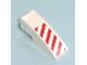 Part No: 50950pb007L  Name: Slope, Curved 3 x 1 No Studs with Red Danger Stripes Pattern Left Side (Sticker) - Set 7636