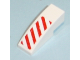 Part No: 50950pb007R  Name: Slope, Curved 3 x 1 No Studs with Red Danger Stripes Pattern Right Side (Sticker) - Set 7636