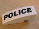 Part No: 50950pb018L  Name: Slope, Curved 3 x 1 No Studs with Black 'POLICE' Pattern Model Left (Sticker) - Set 8152