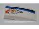 Part No: 50950pb037R  Name: Slope, Curved 3 x 1 No Studs with Black and Blue Lines and Orange Flames Pattern Model Right Side (Sticker) - Set 8221