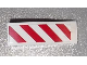 Part No: 50950pb056R  Name: Slope, Curved 3 x 1 No Studs with Red and White Danger Stripes Pattern Model Right Side (Sticker) - Set 60003