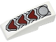 Part No: 50950pb079  Name: Slope, Curved 3 x 1 No Studs with Silver and Dark Red Wolf Armor Pattern (Sticker) - Set 70127