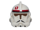 Part No: 50995pb02  Name: Minifigure, Headgear Helmet SW Clone Trooper Ep.3 Pattern with Dark Red Mark