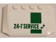 Part No: 52031pb088  Name: Wedge 4 x 6 x 2/3 Triple Curved with Green '24-7 SERVICE' on White Background Pattern (Sticker)