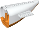 Part No: 54701c03  Name: Aircraft Fuselage Curved Aft Section with Orange Base