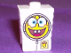 Part No: 54872pb04  Name: Minifigure, Head Modified SpongeBob SquarePants with Spacesuit Pattern