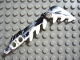 Part No: 57566pb01  Name: Bionicle Weapon Sword with Teeth, Marbled Black Pattern