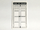 Part No: 57895pb029  Name: Glass for Window 1 x 4 x 6 with 'POLICE PUBLIC CALL BOX' Mirror Image Tardis Door Pattern